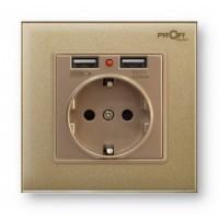 2 USB Profi therm Singl Pure Gold