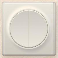 OneKeyElectro Выключатель двойной Бежевый (1Е31501301)