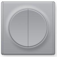 OneKeyElectro Выключатель двойной Серый (1Е31501302)