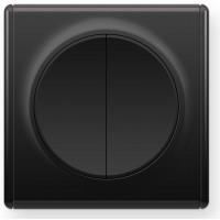 OneKeyElectro Выключатель двойной Черный (1Е31501303)