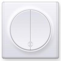 OneKeyElectro Переключатель двойной Белый (1Е31601300)