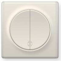 OneKeyElectro Переключатель двойной Бежевый (1Е31601301)