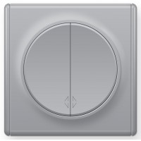 OneKeyElectro Переключатель двойной Серый (1Е31601302)