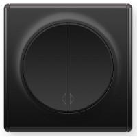 OneKeyElectro Переключатель двойной Черный (1Е31601303)
