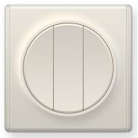 OneKeyElectro Выключатель тройной Бежевый (1Е31901301)