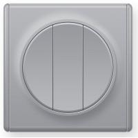 OneKeyElectro Выключатель тройной Серый (1Е31901302)