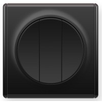 OneKeyElectro Выключатель тройной Черный (1Е31901303)