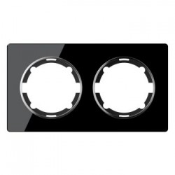 OneKeyElectro Garda Рамка двойная Черная (2E52201303)