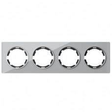 OneKeyElectro Garda Рамка на 4 прибора Серая (2E52401301)