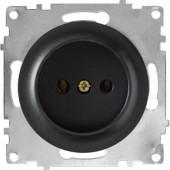OneKeyElectro Розетка без заземления, Черная (1Е10301303)
