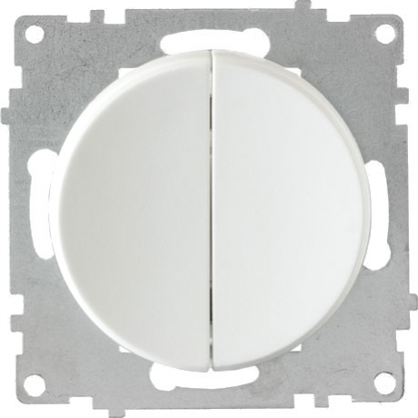 OneKeyElectro Выключатель двойной Белый (1Е31501300)