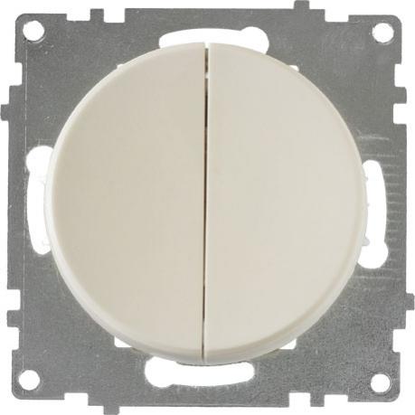 OneKeyElectro Выключатель двойной Бежевый (1Е31501301) Выключательдвойной Бежевый