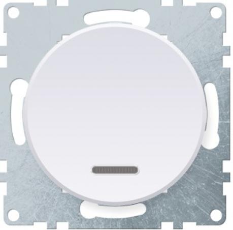 OneKeyElectro Выключатель одинарный с подсветкой Белый (1Е31701300)