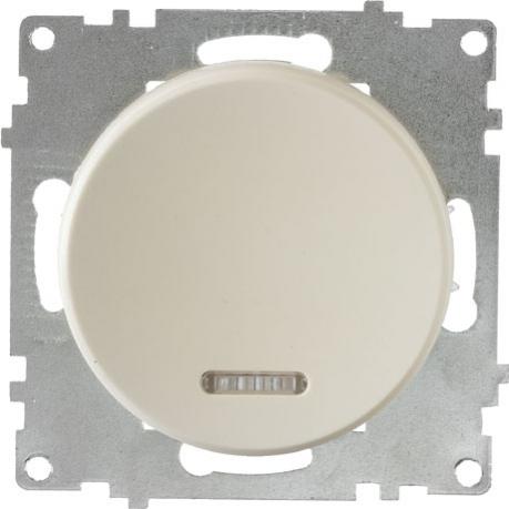 OneKeyElectro Выключатель одинарный с подсветкой Бежевый (1Е31701301) Выключательодинарный с подсветкой Бежевый