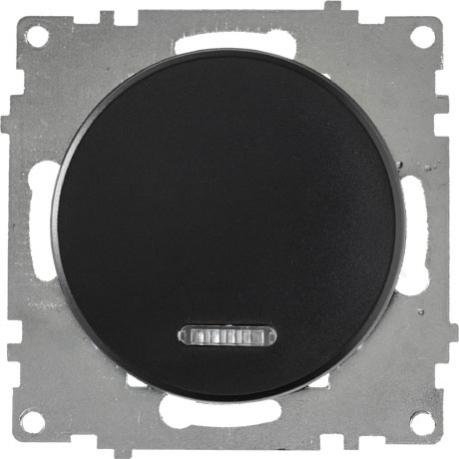 OneKeyElectro Выключатель одинарный с подсветкой Черный (1Е31701303)