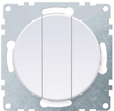 OneKeyElectro Выключатель тройной Белый (1Е31901300)